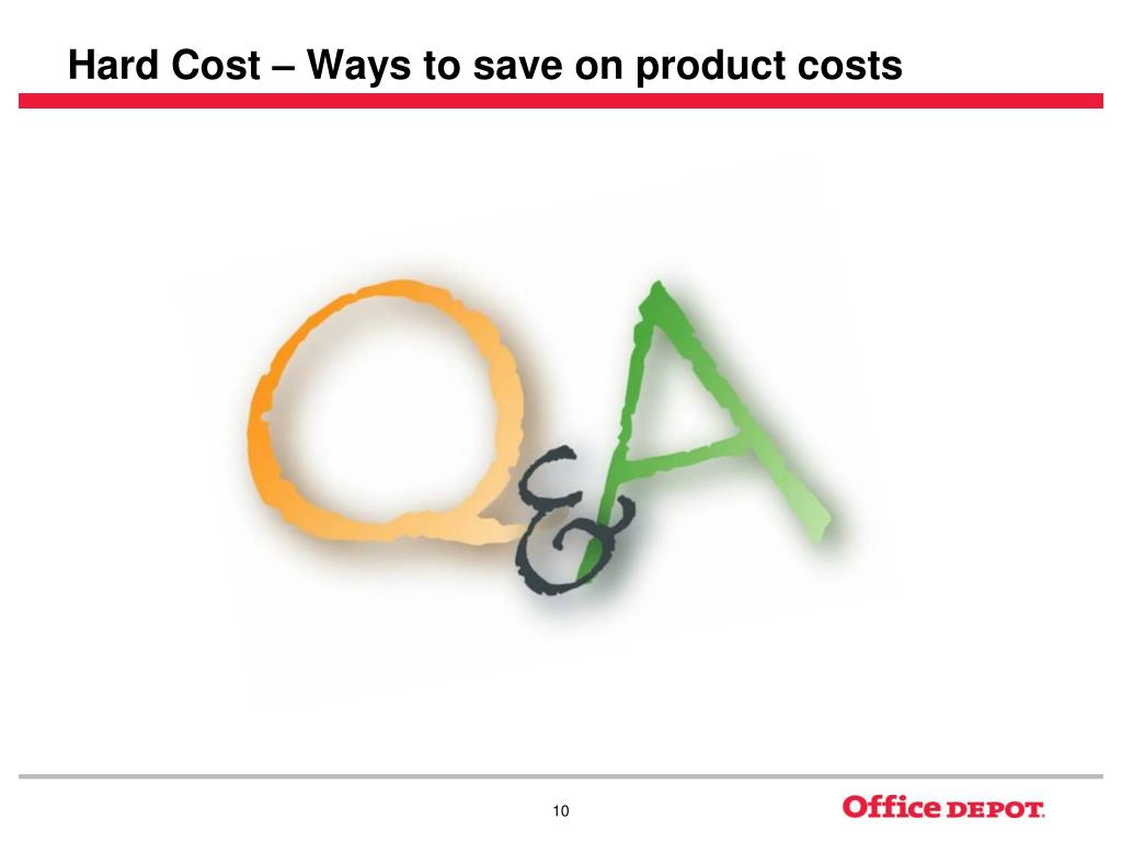 Hard Cost – Ways to save on product costs