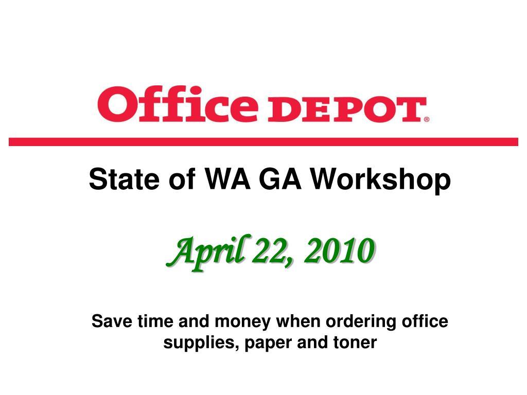 State of WA GA Workshop