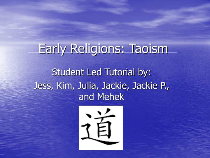 early religions taoism n.
