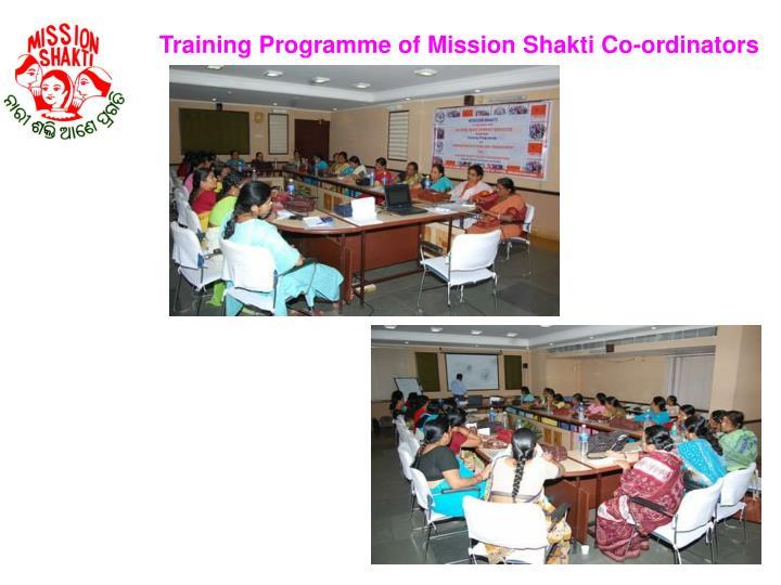 Training Programme of Mission Shakti Co-ordinators