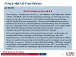 army bridge lss press release