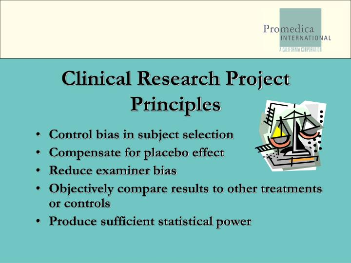 Clinical Research Project Principles