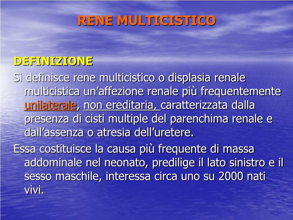 agenesia renale bilaterale cause