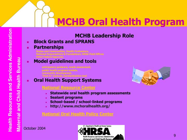 MCHB Oral Health Program
