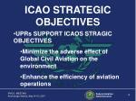 icao strategic objectives