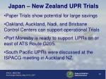 japan new zealand upr trials