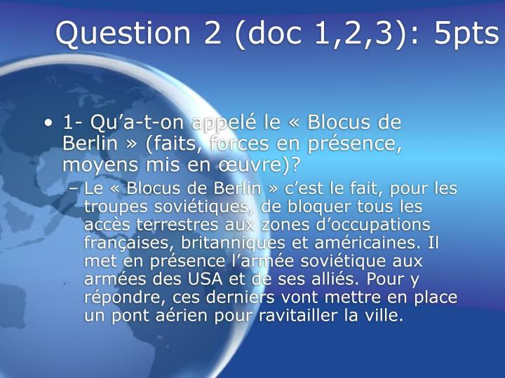 Question 2 doc 1 2 3 5pts