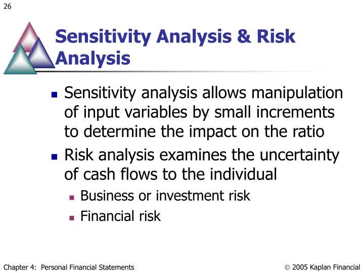 Sensitivity Analysis & Risk Analysis