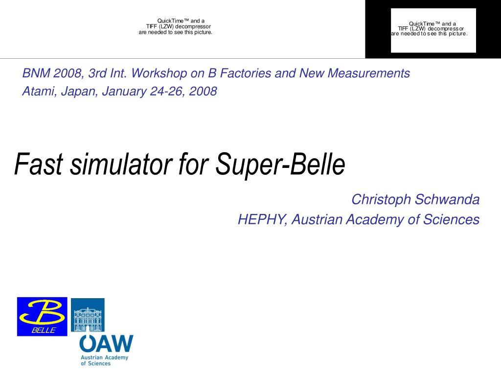 Fast simulator for Super-Belle