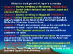 historical background of japan s surrender