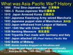 what was asia pacific war history