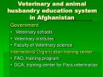 veterinary and animal husbandry education system in afghanistan