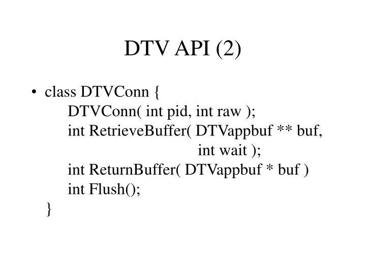 DTV API (2)