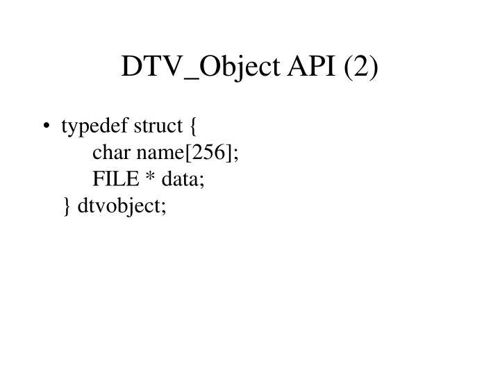 DTV_Object API (2)