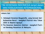 tim kesenian indonesia tampil dalam misi kebudayaan internasional