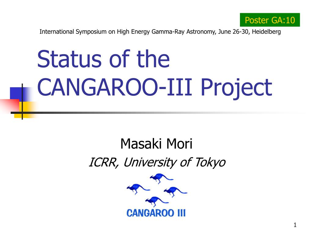 status of the cangaroo iii project l.
