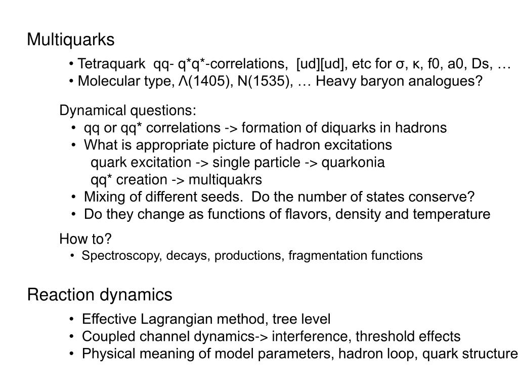 Multiquarks