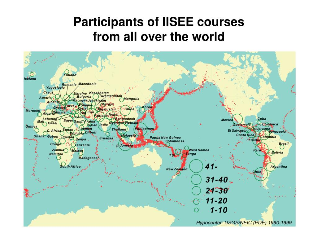 Participants of IISEE courses