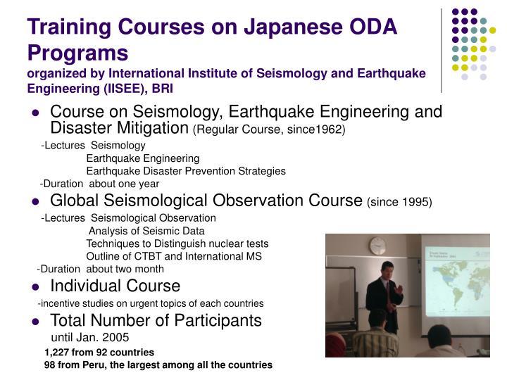 Training Courses on Japanese ODA Programs