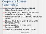corporate losses examples