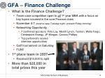 gfa finance challenge