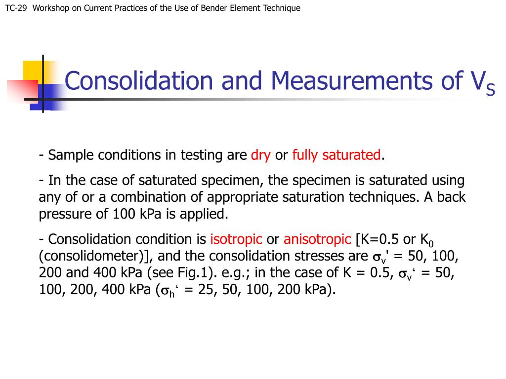Consolidation and Measurements of V