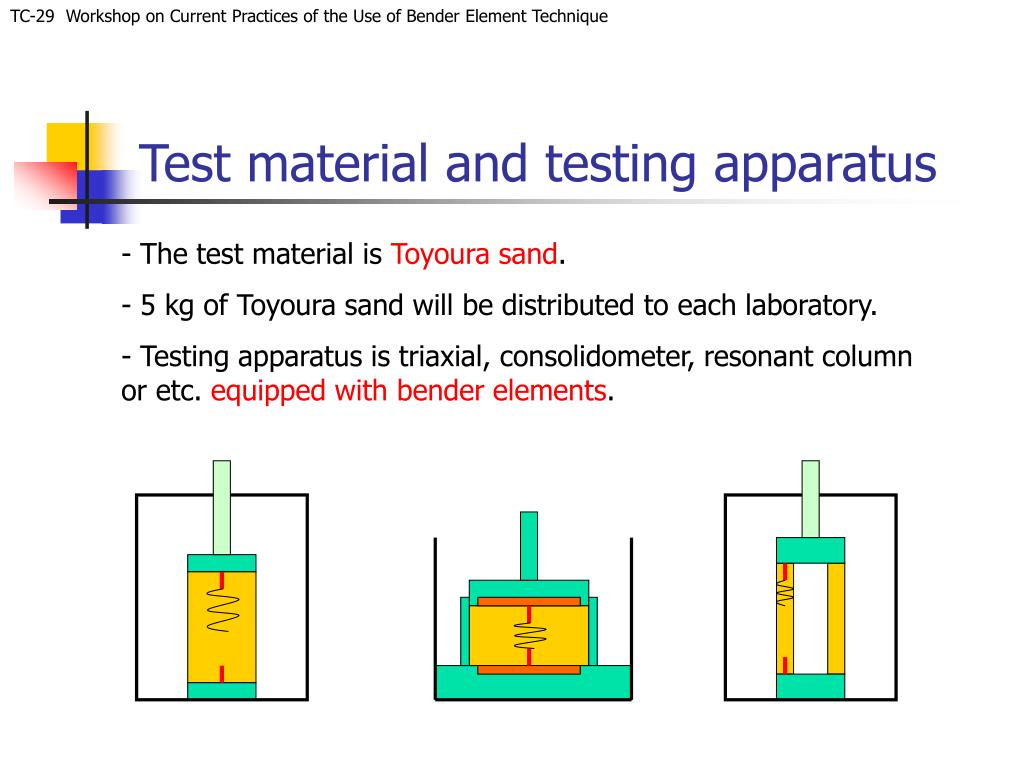 Test material and testing apparatus