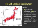 hi net station distribution