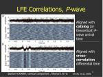 lfe correlations p wave