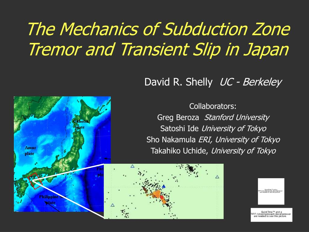 the mechanics of subduction zone tremor and transient slip in japan l.