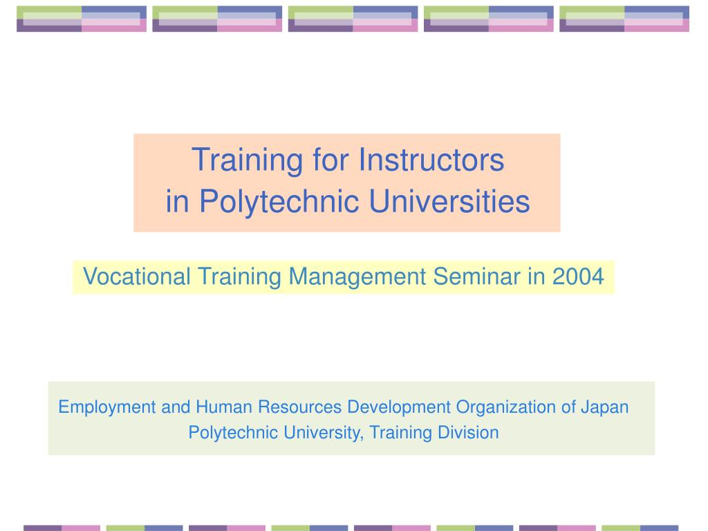 training for instructors in polytechnic universities