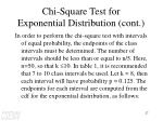 chi square test for exponential distribution cont