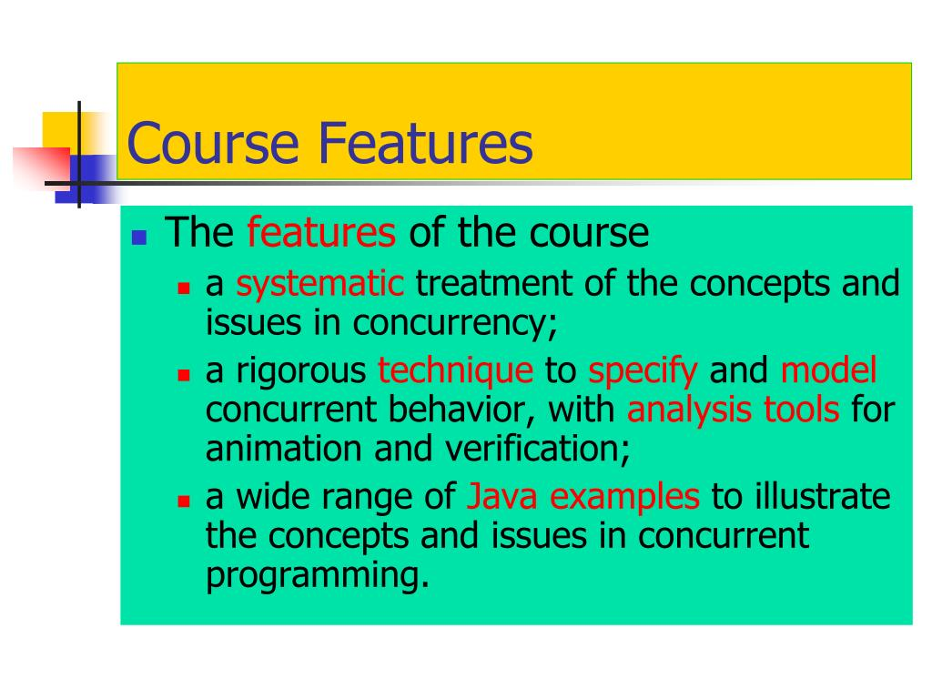 Course Features