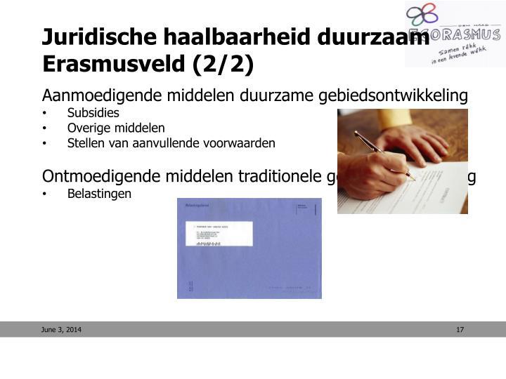 Juridische haalbaarheid duurzaam Erasmusveld (2/2)
