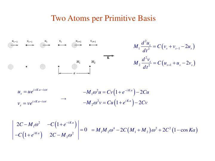 Two Atoms per Primitive Basis