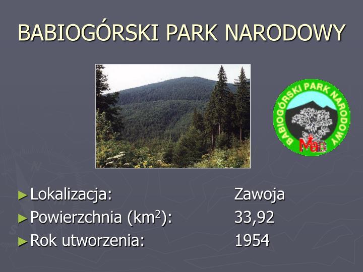 Babiog rski park narodowy