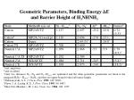 table 1 the geometric parameters the binding energy e and the barrier height of h 3 nhnh 3
