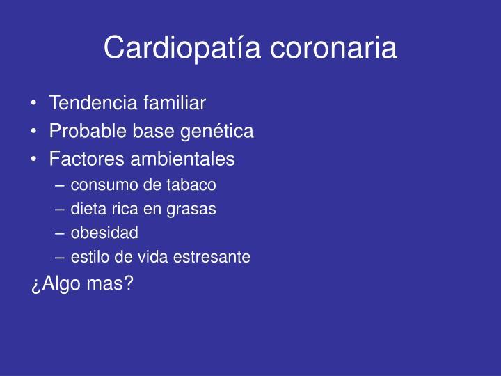 Cardiopat a coronaria