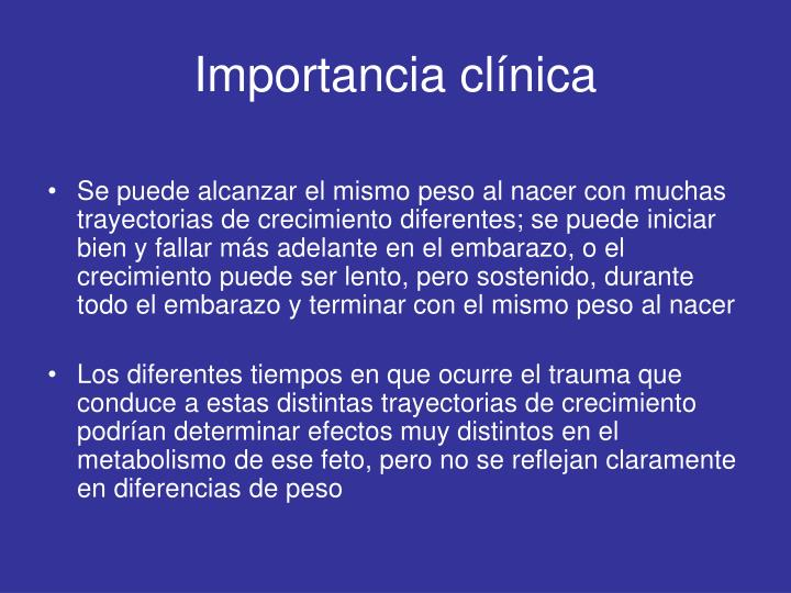 Importancia clínica