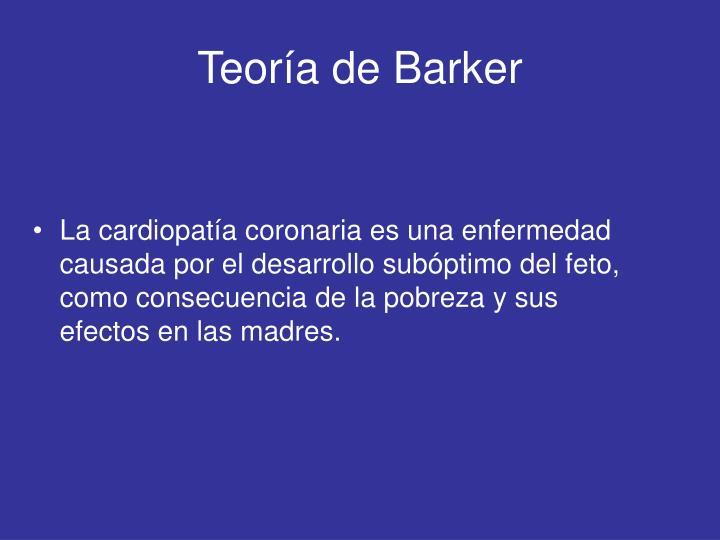 Teoría de Barker