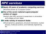 hpc services