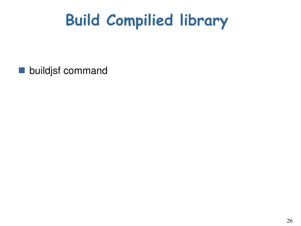 Build Compilied library