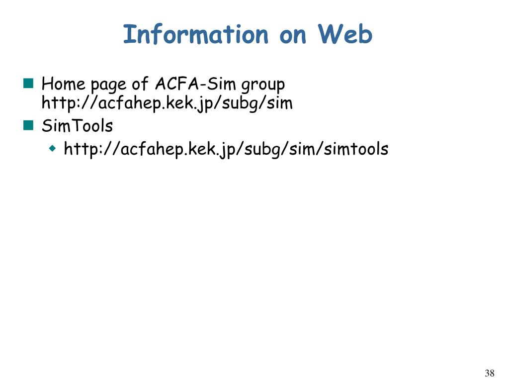 Information on Web