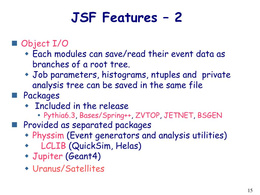 JSF Features – 2