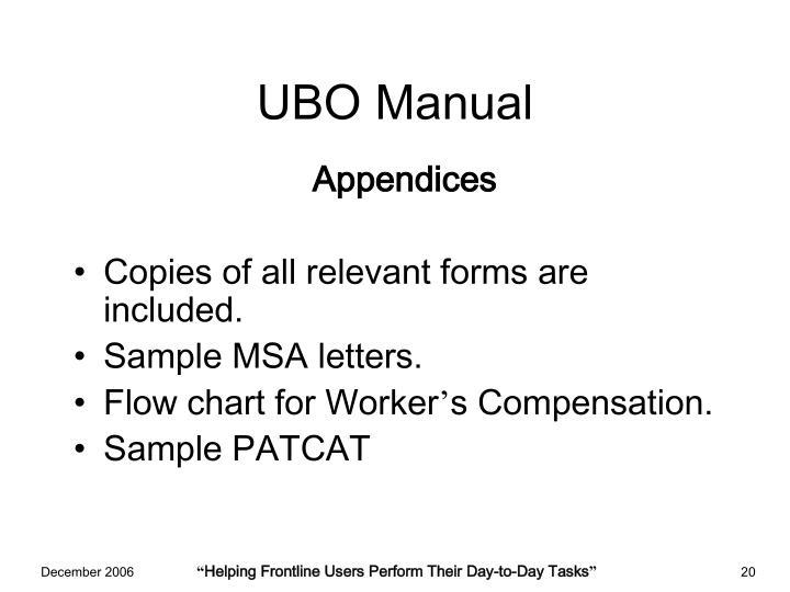 UBO Manual