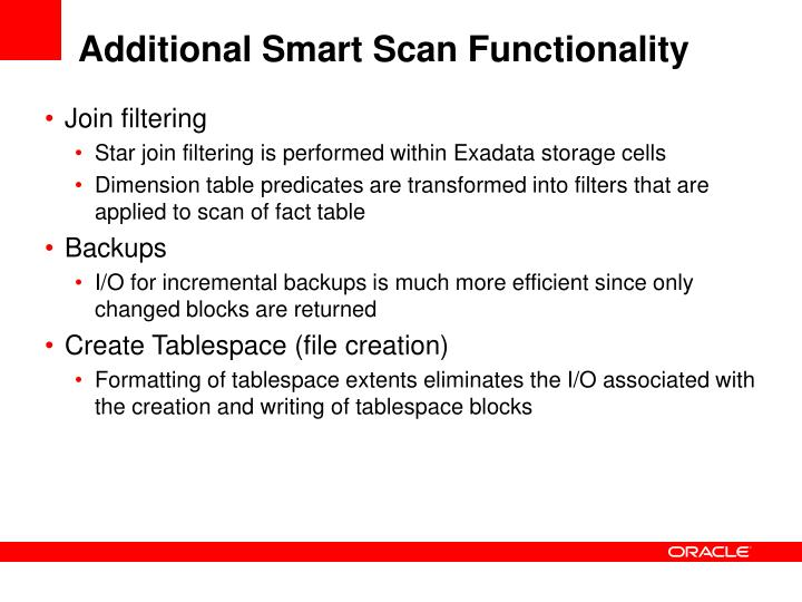 Additional Smart Scan Functionality