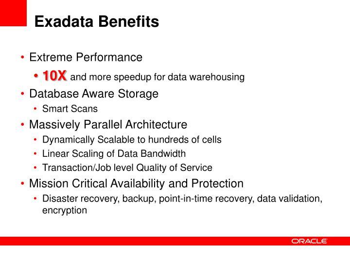 Exadata Benefits
