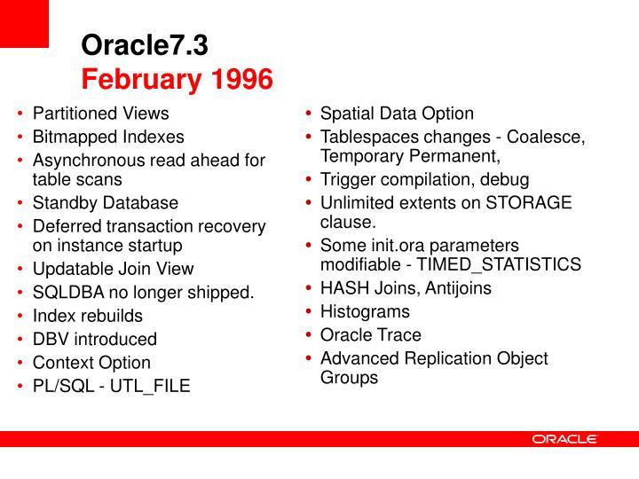 Oracle7.3