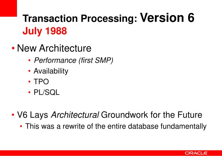 Transaction Processing: