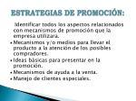 estrategias de promoci n